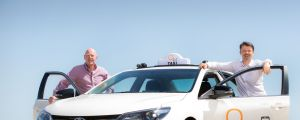 Oiii founder Dennis Jeffees  and  chief executive Roland Grelewicz. The company says it offers an alternative to taxis ...