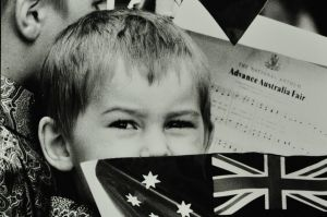 Christopher Freeman, 3, accompanied his brother Daniel,5,and father Mike who collected his Australian citizenship at ...