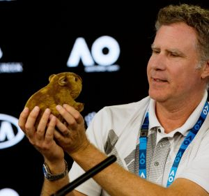 Will Ferrell engages with native fauna.