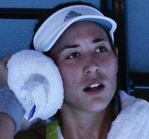 Down and out: World No.3 Garbine Muguruza is out of the competition.