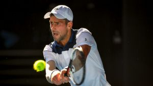 """Novak Djokovic said it was """"a big challenge"""" to play on Thursday when the court temperature reached 70 degrees."""