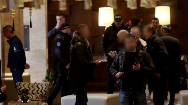 Rohan Arnold, left, was among three Australians and one Lebanese citizen arrested in the raid at the Metropol Palas ...