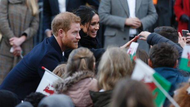 Prince Harry and Meghan Markle make their first official visit to Wales