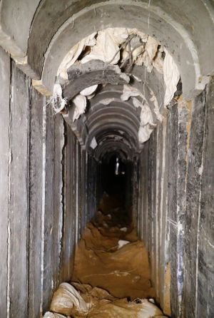 The tunnel was partially destroyed by Israeli troops in October.