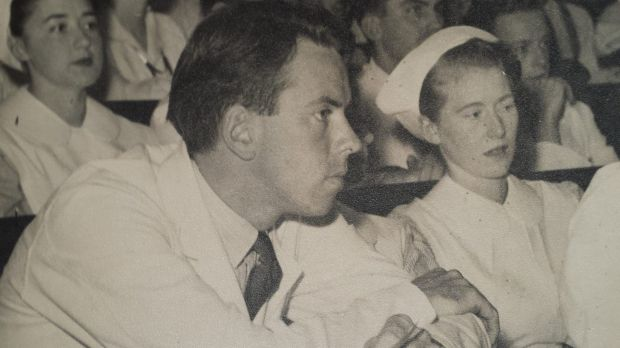 Peter Ilbery as a medical student