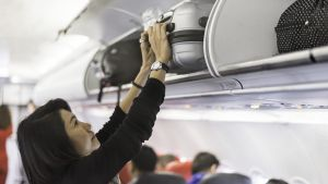 Only 'priority' passengers will be allowed to use overhead lockers for suitcases and backpackers on Ryanair flights.