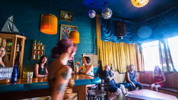 The Shady Lady nails the dimly lit dive bar vibe.