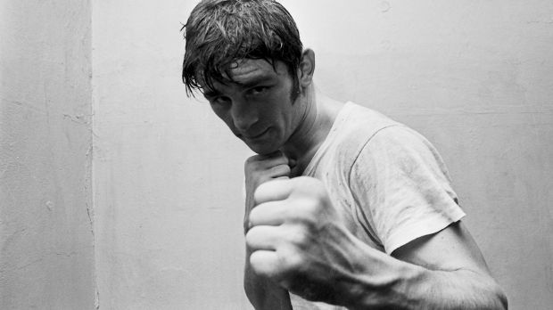 Australian boxer, Johnny Famechon, trains for a title fight in Sydney in 1969.