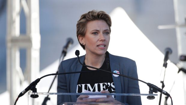 Scarlett Johansson calls out James Franco in Women's March speech