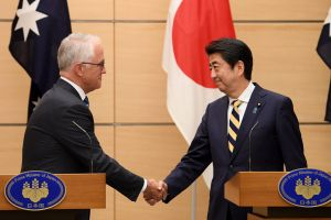 Prime Minister Malcolm Turnbull and his Japanese counterpart Shinzo Abe last week.The successful visit continues a ...