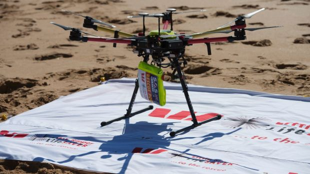 The Little Ripper Rescue UAVs with its flotation device, called a rescue pod being used across the Far North Coast.