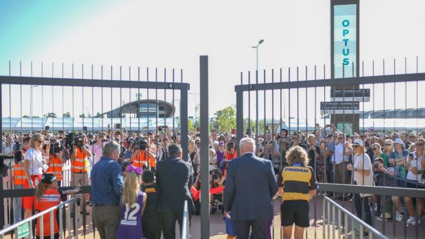 The gates are officially opened at Optus Stadium.