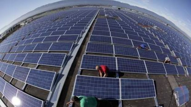 Large-scale solar farms have seen growing levels on investment.