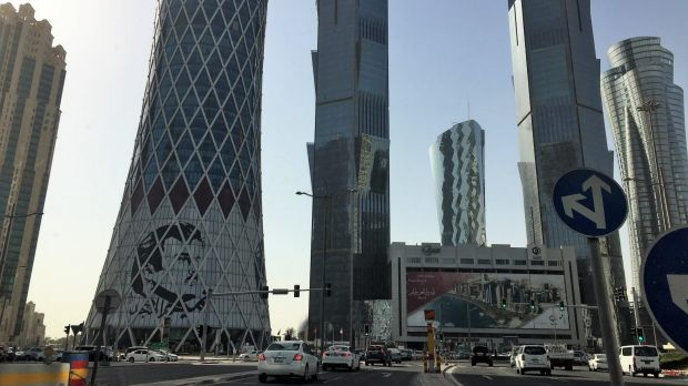 Doha is full of futuristic skyscapers.