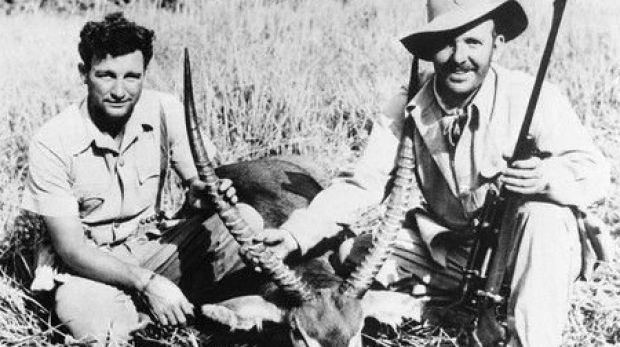 Author Robert Ruark (right) with legendary game hunter Harry Selby in East Africa in 1954.
