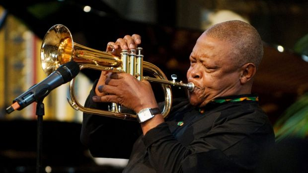 South African jazz musician Hugh Masekela  at Westminster Abbey, London, 2012.