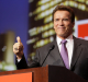 Arnold Schwarzenegger at the Oracle conference.