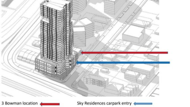 Image showing the building heights in relation to each other.