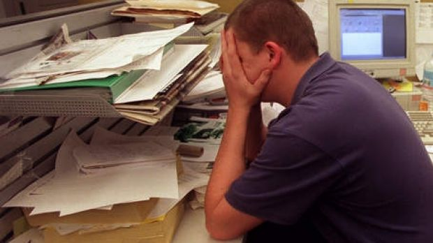Work-related pressure is a big cause of stress for Australians.