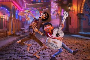 A scene from Coco, the Disney-Pixar film nominated for an Oscar for best animated picture.