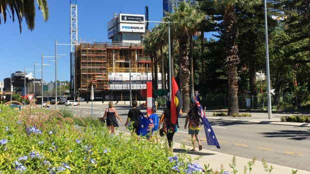 Revellers have started flocking into Perth ahead of tonight's Skyworks.