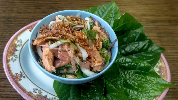 The betel leaf and trout dish at BKK