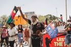 Invasion Day protest at Canberra.