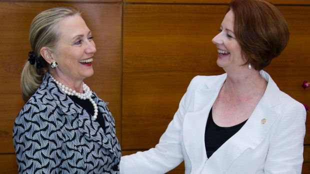 Hillary Clinton and Julia Gillard plan to change perceptions of female leaders.