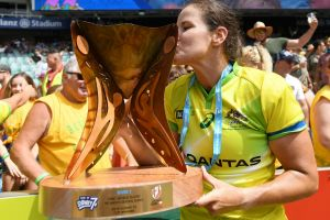Sweet success: Australian co-captain Shannon Parry enjoys the taste of victory - and redemption.