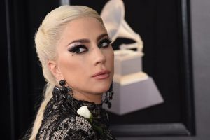 Lady Gaga arrives at the 60th annual Grammy Awards at Madison Square Garden on Sunday, Jan. 28, 2018, in New York. ...