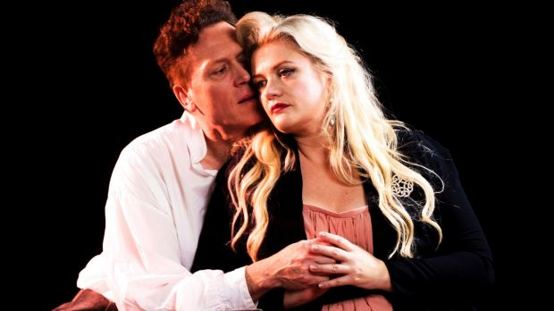 UK singer Neal Cooper and local opera star Lee Abrahmsen as Tristan and Isolde in the Melbourne Opera production of ...