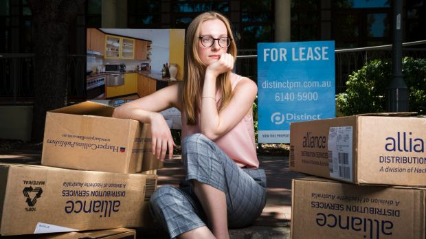 Student Jessica Neal is struggling to find a place to live because of an influx of people looking as well. Photo: Dion ...