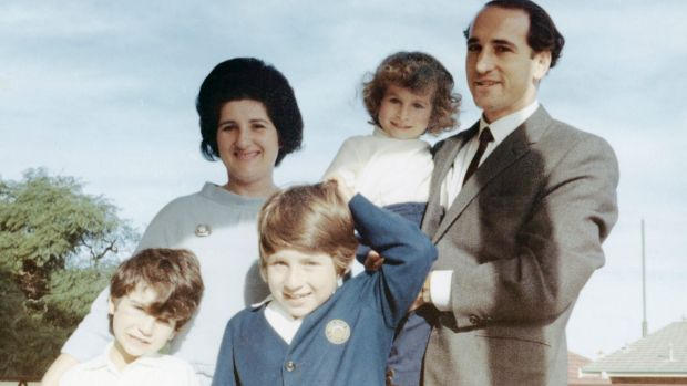 Sophie Caplan with her husband, Leslie, and their children Jonathan, Gideon and Benjamin.
