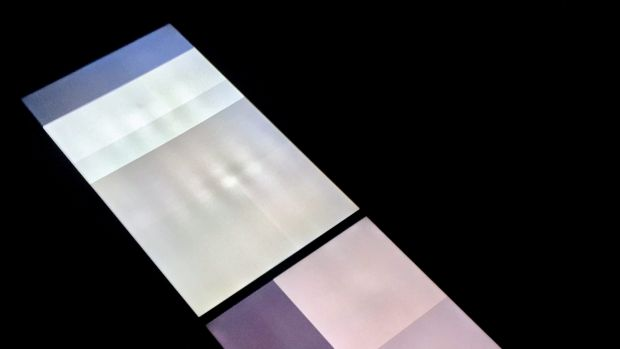 Shoeb Ahmad's broken-binary-brown (installation) 2017, dual HD video with stereo sound, 60' duration at Canberra ...