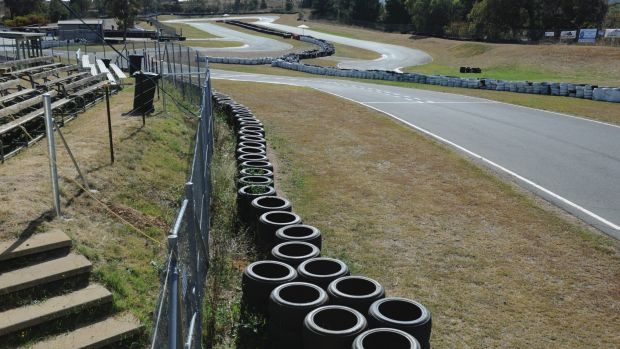 The Fairbairn go-karting track, to be extended with the help of a government grant.