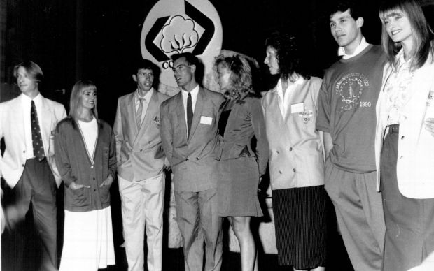 Launching of Commonwealth Games uniforms at Artarmon in 1989 for 1990s commonwealth games held in New Zealand.