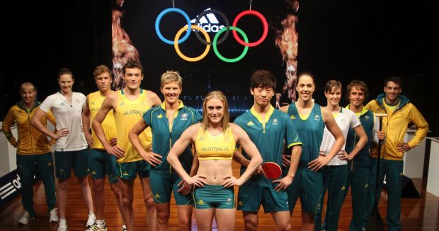 Australian Olympic Athletes (L-R) Henry Frayne, Cate Campbell, Natalie Cook, Sally Pearson, Jessicah Schipper, Mitchell ...