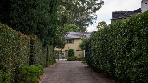 Exterior of a property at 49C Burns Road, Wahroonga, believed to be owned by members of the Farrell family.