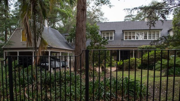 Exterior of a property at 61 Burns Road, Wahroonga, believed to be owned by members of the Farrell family.