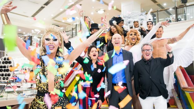 Myer unfazed by conservative shoppers' reaction to Mardi Gras partnership
