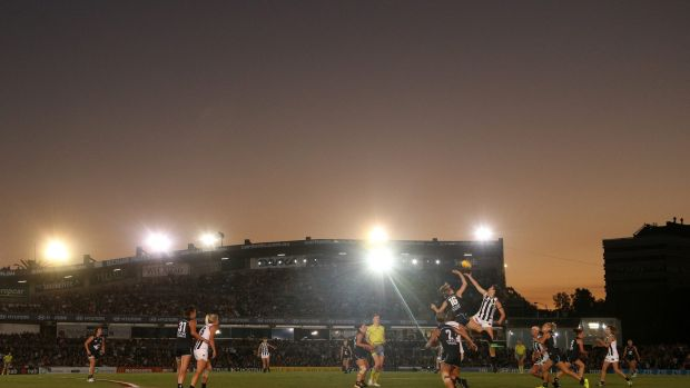 Ikon Park can hold and has held big AFLW crowds.