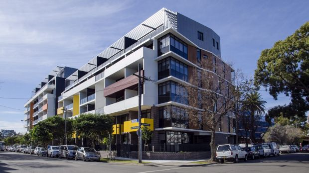The City West Exordium apartments (pictured), which opened in Zetland in 2016, is among a number of affordable housing ...