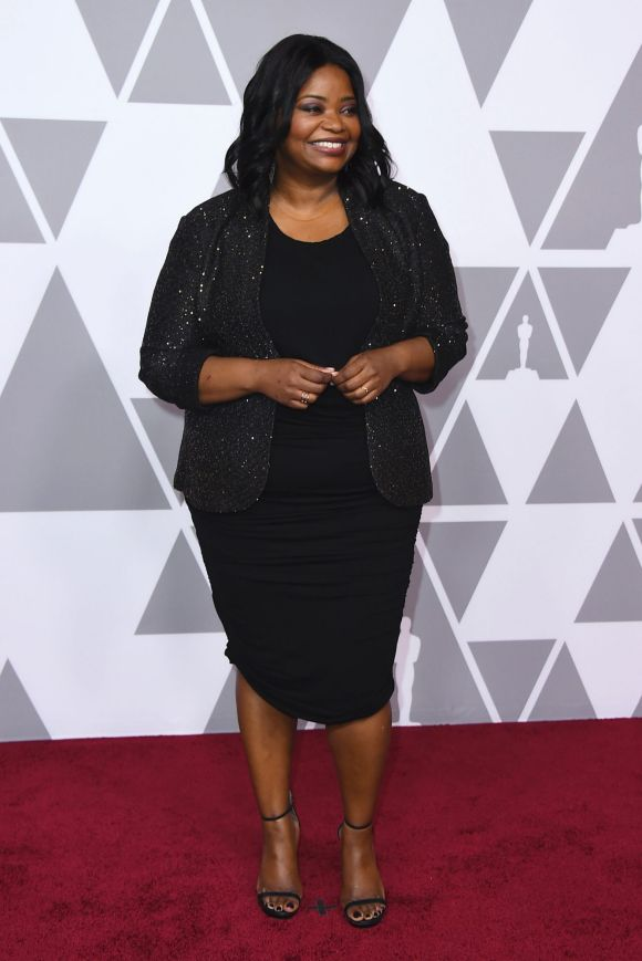 Octavia Spencer arrives at the 90th Academy Awards Nominees Luncheon at The Beverly Hilton hotel on Monday, Feb. 5, 2018.