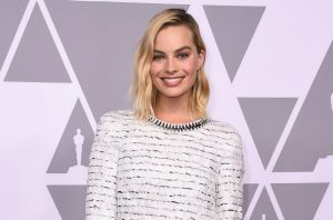 Margot Robbie arrives at the 90th Academy Awards Nominees Luncheon at The Beverly Hilton hotel on Monday, Feb. 5, 2018.
