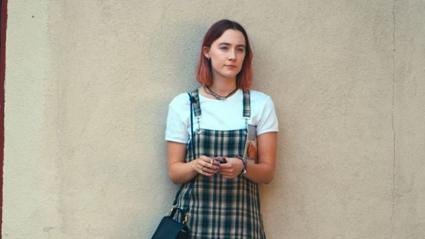 Saoirse Ronan in a scene from <i>Lady Bird</i>.
