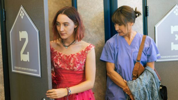 Saoirse Ronan, left, and Laurie Metcalf in a scene from <i>Lady Bird</i>. Metcalf has been nominated for an Oscar for ...