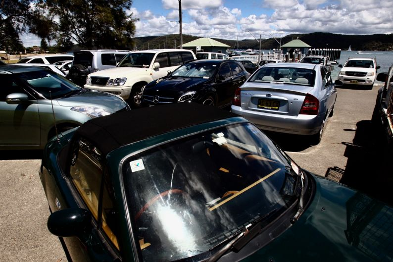 Pittwater Park Wharf in Palm Beach where traffic issues have become one of concern. Reports of traffic jams, double ...