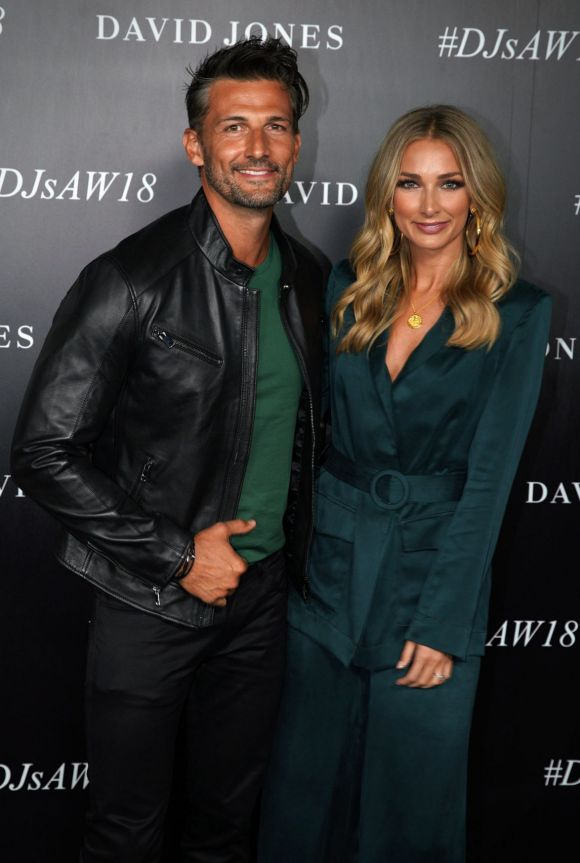 Anna Heinrich and Tim Robards  arrive at the red carpet for the 2018 David Jones Autumn Winter collection launch.