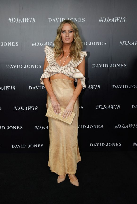 Samantha Wills arrives at the red carpet for the 2018 David Jones Autumn Winter collection launch.