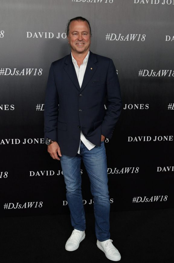 Neil Perry arrives at the red carpet for the 2018 David Jones Autumn Winter collection launch.